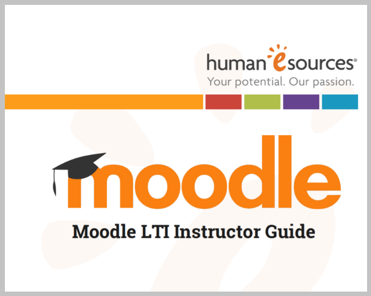 Moodle LTI Instructor Guide